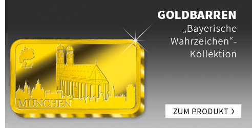 Bayerische Wahrzeichen Goldbarren-Kollektion