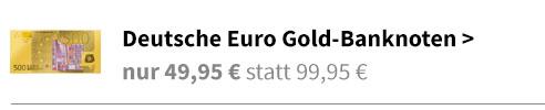 Euro Gold Banknoten
