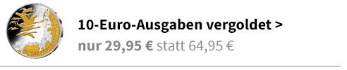 10 Euro vergoldet