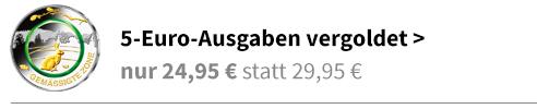 5 Euro vergoldet