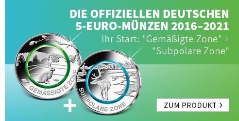 Die offiziellen deutschen 5 Euro Münzen