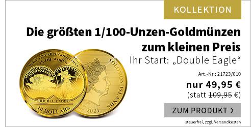 Die größten 1/100-Unzen-Goldmünzen