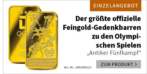 "Gedenkbarren ""Antiker Fünfkampf"""