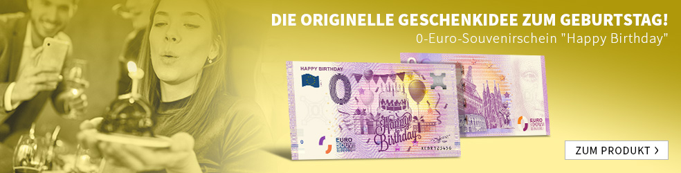 "0-Euro-Souvenirschein ""Happy Birthday"""